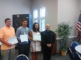 Fr. Fred Shaheen with three of 2012's awardees